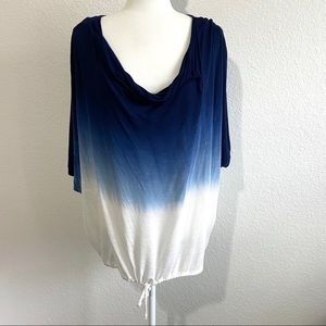 Young Fabulous and Broke blue ombré slouch top